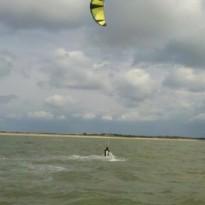 Kitesurf féminin à l'école Noirmoutier / Fromentine / Vendée