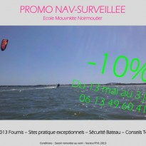 Promotion navigation surveillée kitesurf Noirmoutier / Fromentine / Vendée