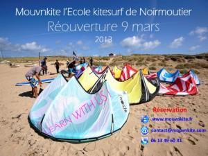 Réouverture école kitesurf Noirmoutier / Fromentine / Vendée 2013