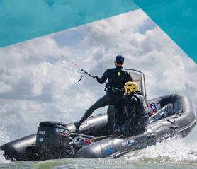 Bateau sécurité kitesurf Noirmoutier / Fromentine / Vendée : Julien Grillat